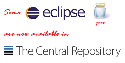 Some eclipse jars are now available the central repository